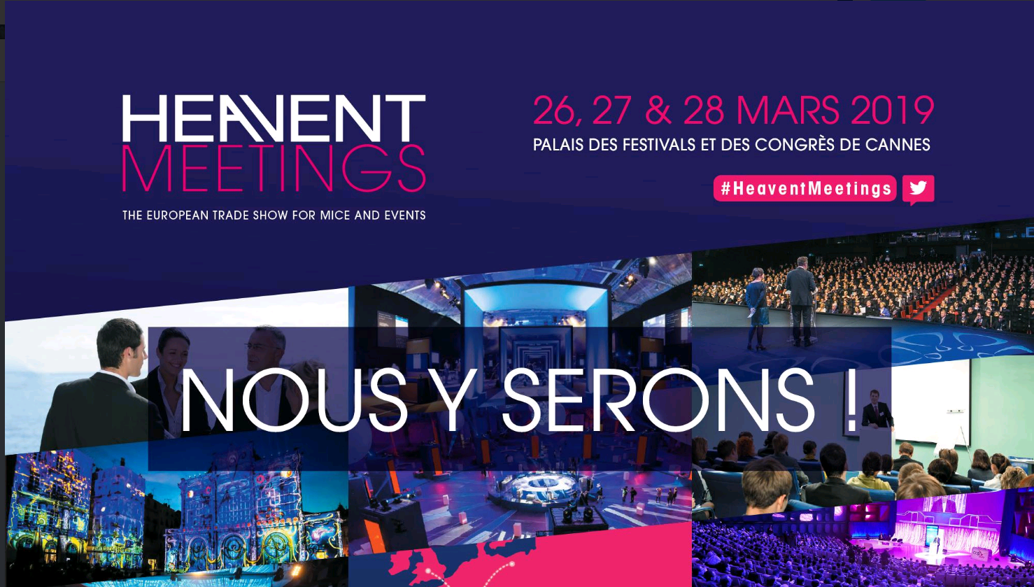 Alpexpo participe au salon Heavent Meetings mars 2019 à Cannes