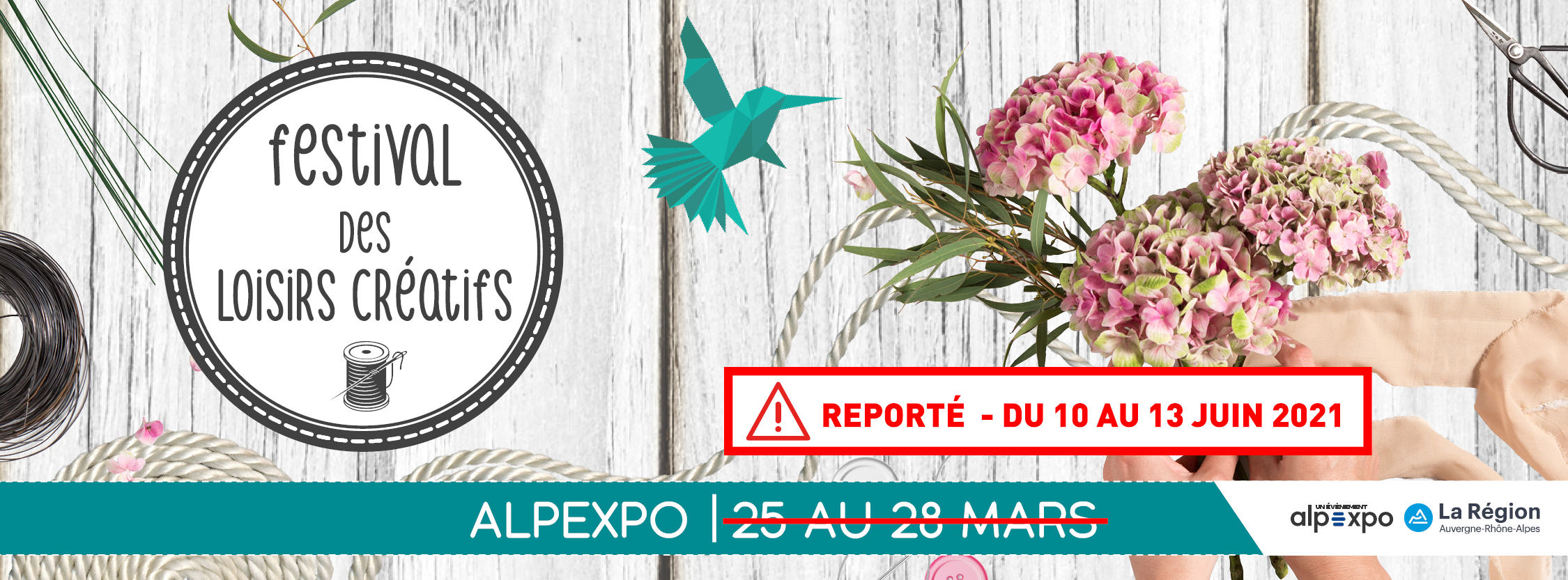 Le Festival des Loisirs Créatifs de Grenoble reporté